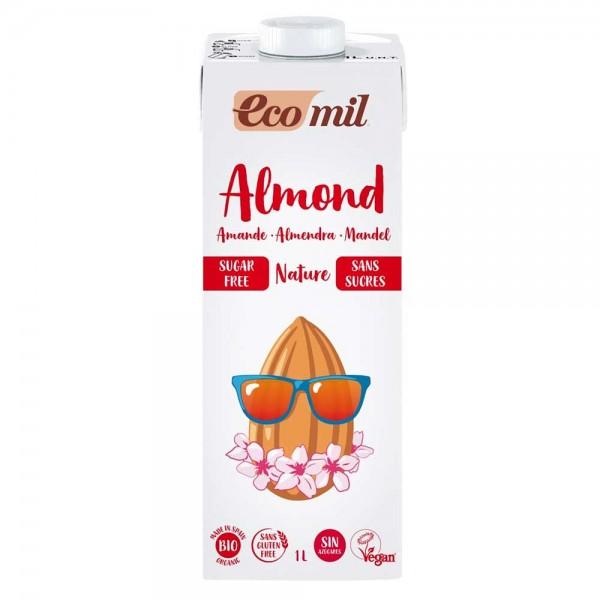 EcoMil Bio Mandel Drink natur zuckerfrei