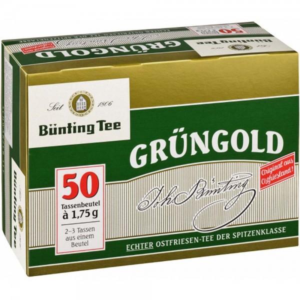 Bünting Grüngold Echter Ostfriesentee Beutel (1,75g)