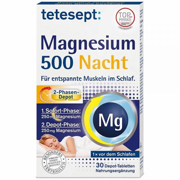 tetesept Magnesium 500 Nacht Tabletten