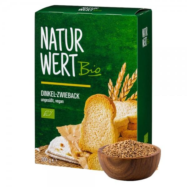 NaturWert Bio Dinkel-Zwieback ungesüßt