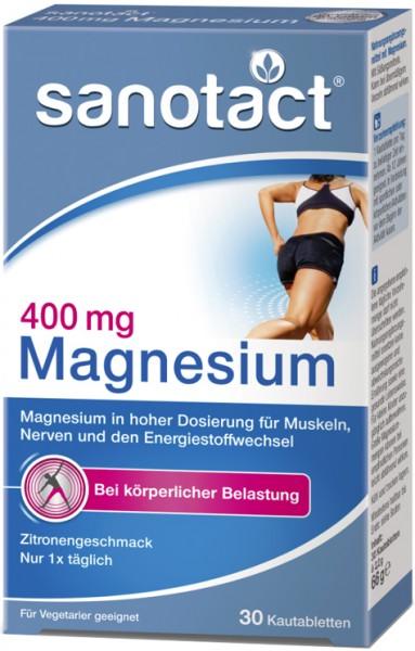 Sanotact Magnesium 400 Kautabletten