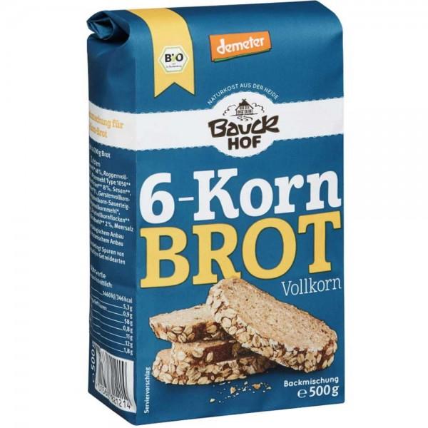 Bauckhof Bio 6-Korn Brot Vollkorn Backmischung