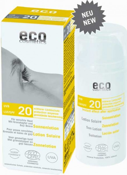 eco cosmetics Sonnenlotion LSF20