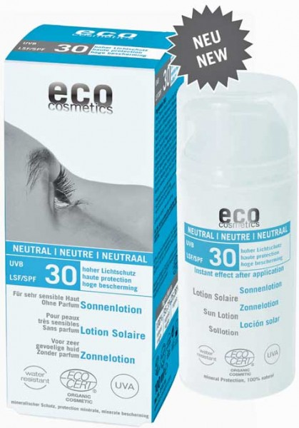 eco cosmetics Sonnenlotion LSF30 neutral