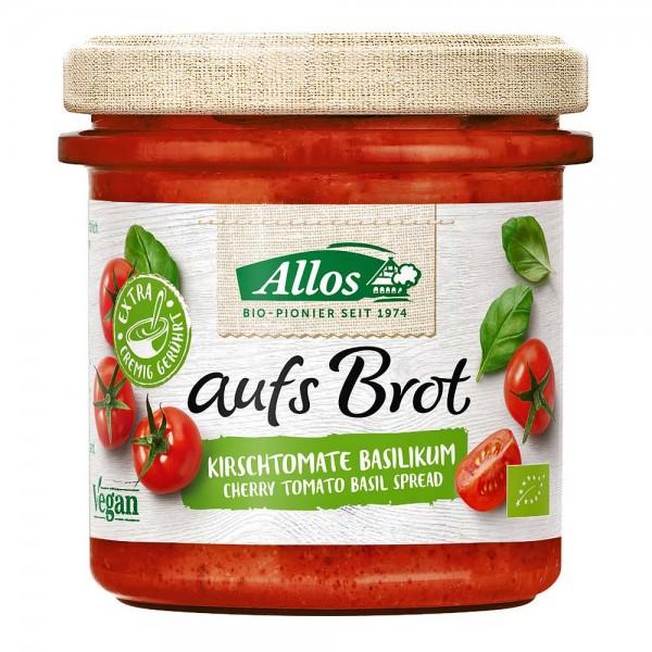 Allos Bio aufs Brot Kirschtomate Basilikum